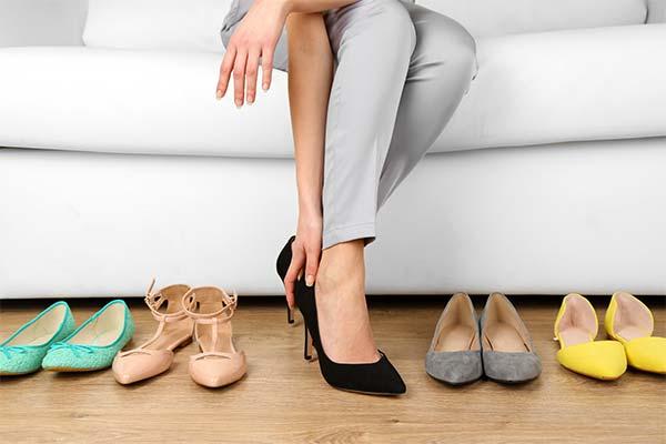 Какого цвета мерили обувь