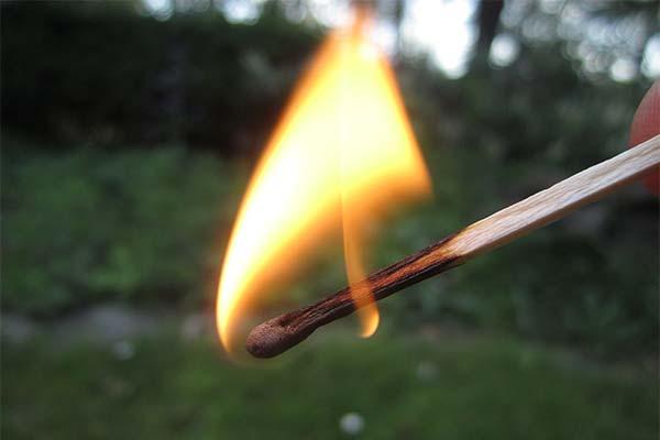 Огонь от спички во сне