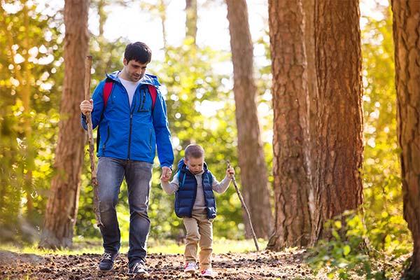 Отец в лесу