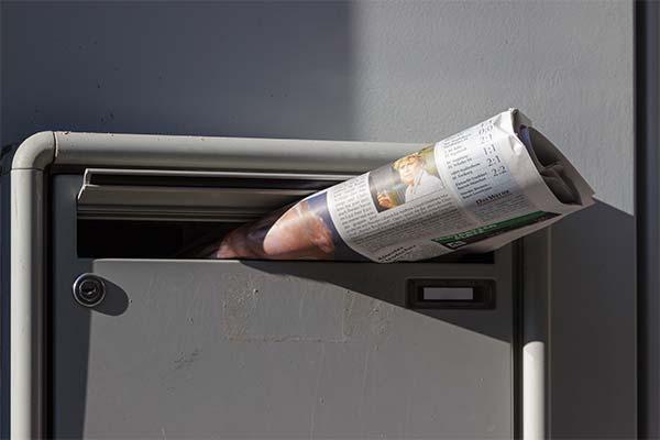 Газеты в почтовых ящиках