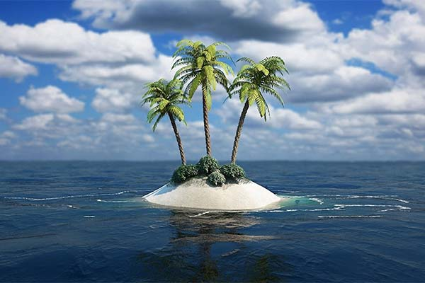 Остров в море