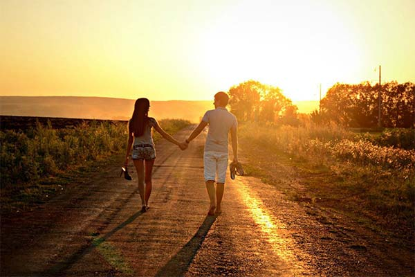 Гулять с парнем на рассвете