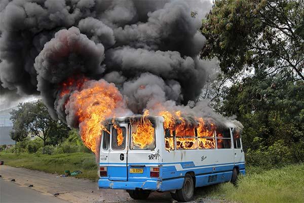Сонник горящий автобус
