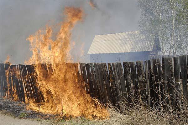 Сонник забор горит