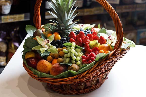 Сонник корзина с фруктами